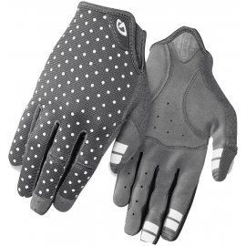 GIRO LA DND WOMEN'S MTB CYCLING GLOVES 2019: DARK SHADOW/WHITE DOTS L
