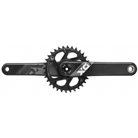 SRAM Crank X01 Eagle DUB 12s Direct Mount 32t or 30t for Fat Bike X-SYNC 2 Chainring Black (DUB Cups/Bearings Not Included)