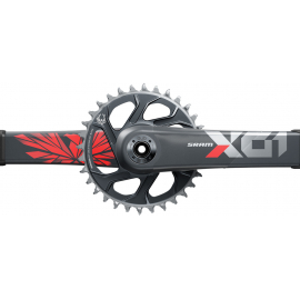 SRAM Crankset X01 Eagle DUB 12s 175 w Direct Mount 32T X-SYNC 2 Chainring Lunar Oxy (DUB Cups/Bearings not included) C2